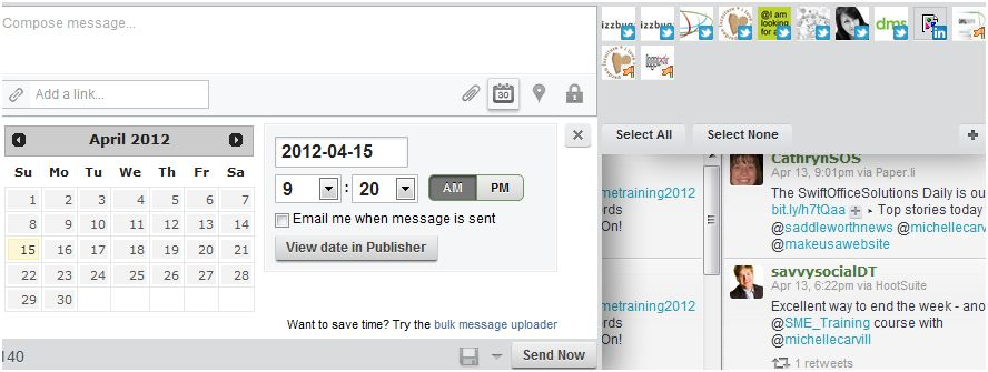scheduling social media marketing activity using hootsuite