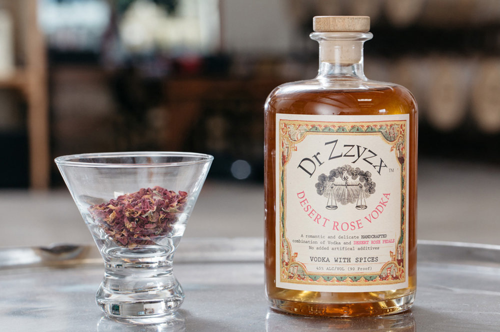 DESERT ROSE  - An earthy, floral twist on vodka.  Capturing the essence of a freshly bloomed rose after a soft rain.  100% corn, gluten free & all-natural.  NO ADDITIVES.