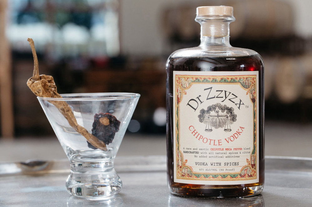 CHIPOTLE - Smokey, fiery & robust. Made with meca peppers,a mexican variety of red jalepeno that is smoked for five days and is legendary for its intense smokey flavor. Vodka? Hardly. 100% corn, gluten free & all-natural.NO ADDITIVES.