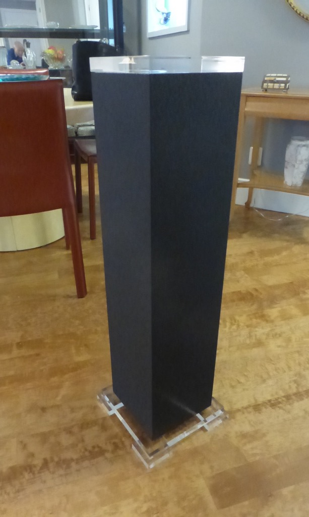 Decorum custom lucite Shagreen pedestal Grey, cream, black.jpeg