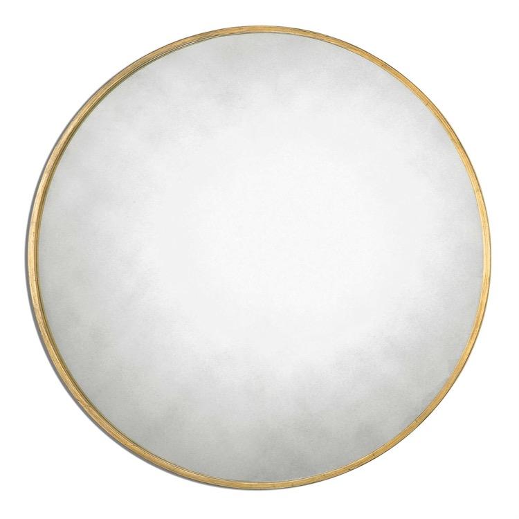 """Antiqued glass round mirror 43""""D.jpeg"""