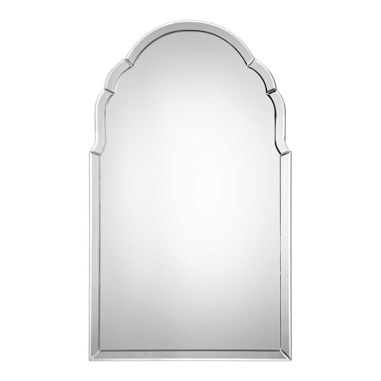 "Elegant frameless arch mirror 24"" by 40.jpeg"