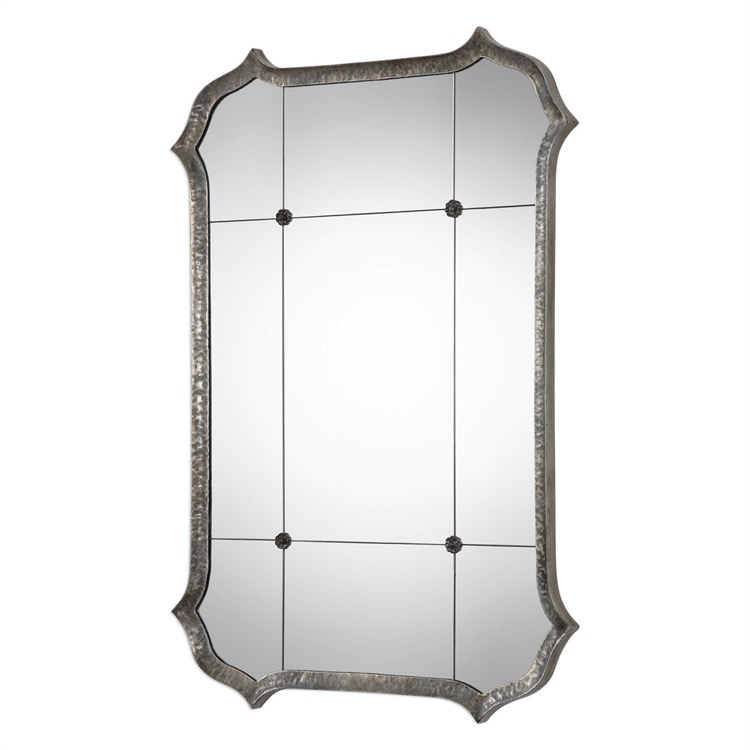 Hammered iron bronze colour bevelled mirror 31 by 46.jpeg