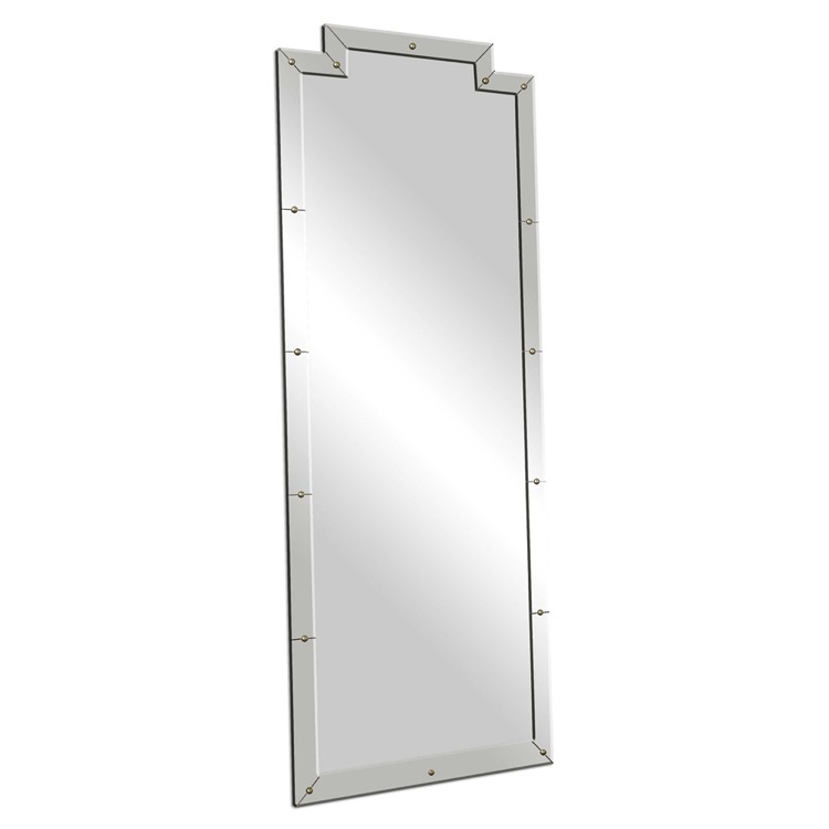 "Large smoked beveled frame mirror 29"" by 76.jpeg"