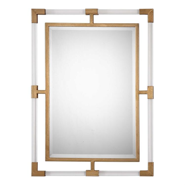 "Gold Leaf Suspended Acrylic Mirror 28"" X 38.jpeg"
