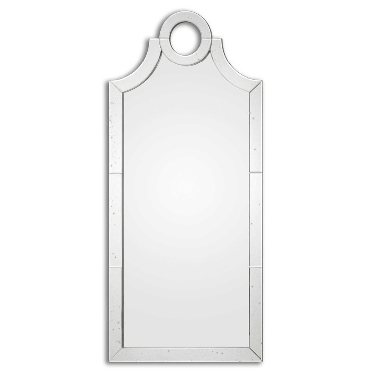 """Large Mirror With Lightly Antiqued Beveled Mirror Tiles 30"""" X 66.jpeg"""