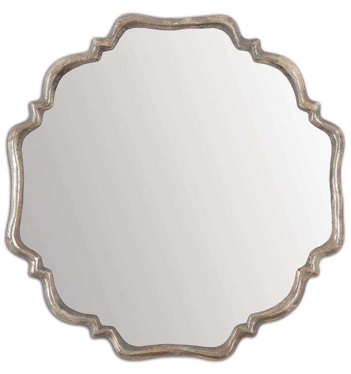 "Oxidize Silver Shapely Mirror 32"" X 32.jpeg"