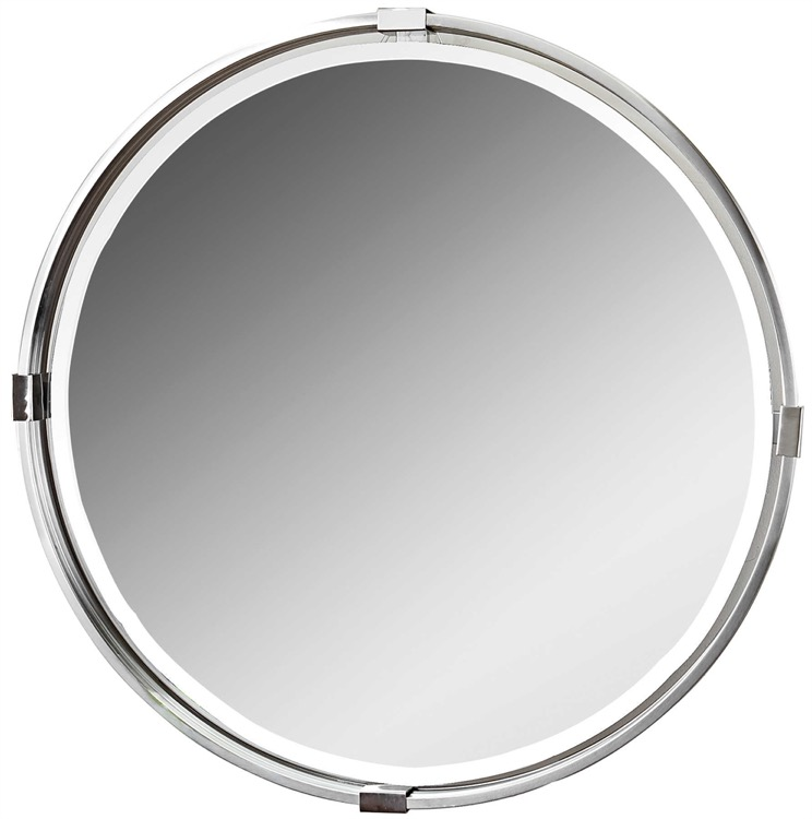 "Round Polished Nickel Beveled Mirror 30""D.jpeg"