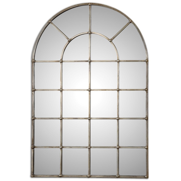 "Silver Arch Window Mirror 30"" X 44.jpeg"