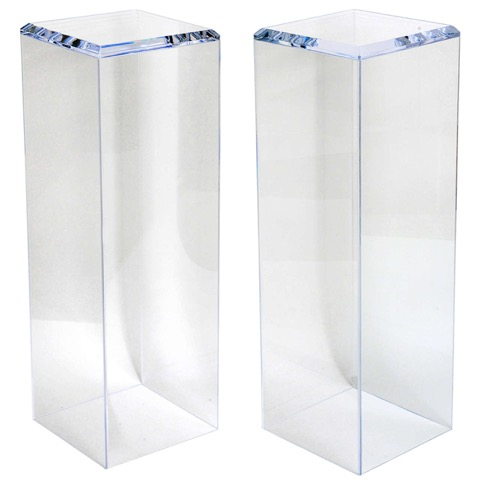 Clear Lucite Pedestals Custom sizes available.jpeg