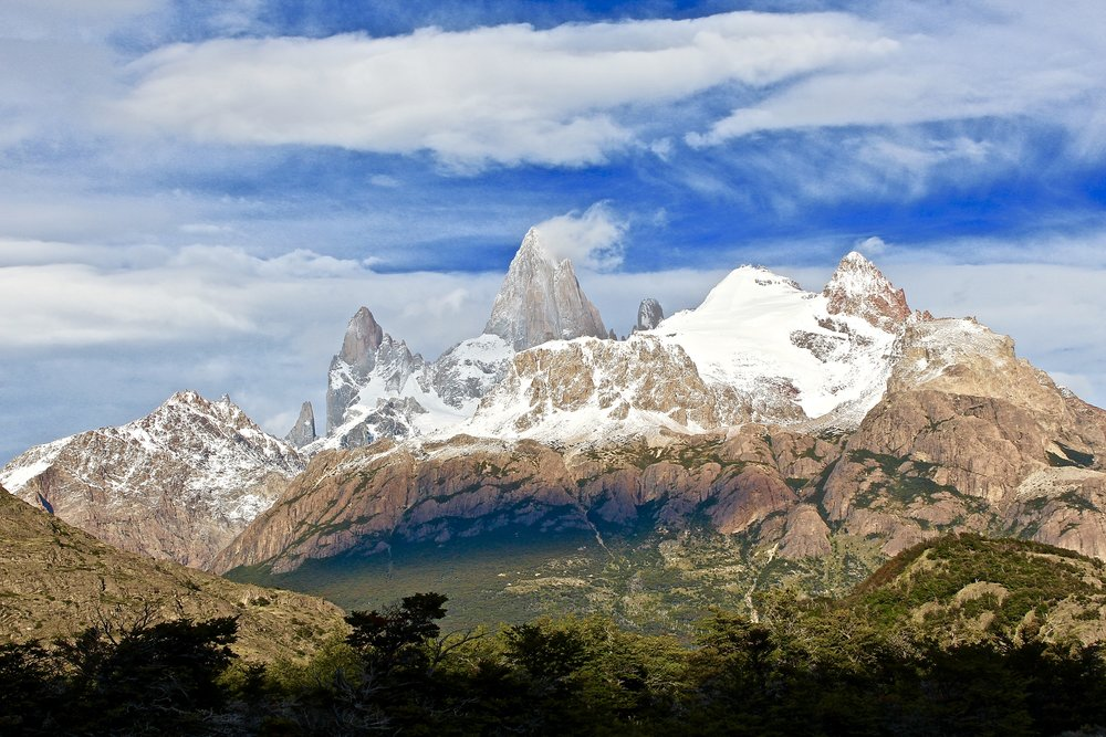 Easy hiking for the majority of the Fitz Roy Trek - with gorgeous views of  Monte Fitz Roy  starting about an hour into the hike.