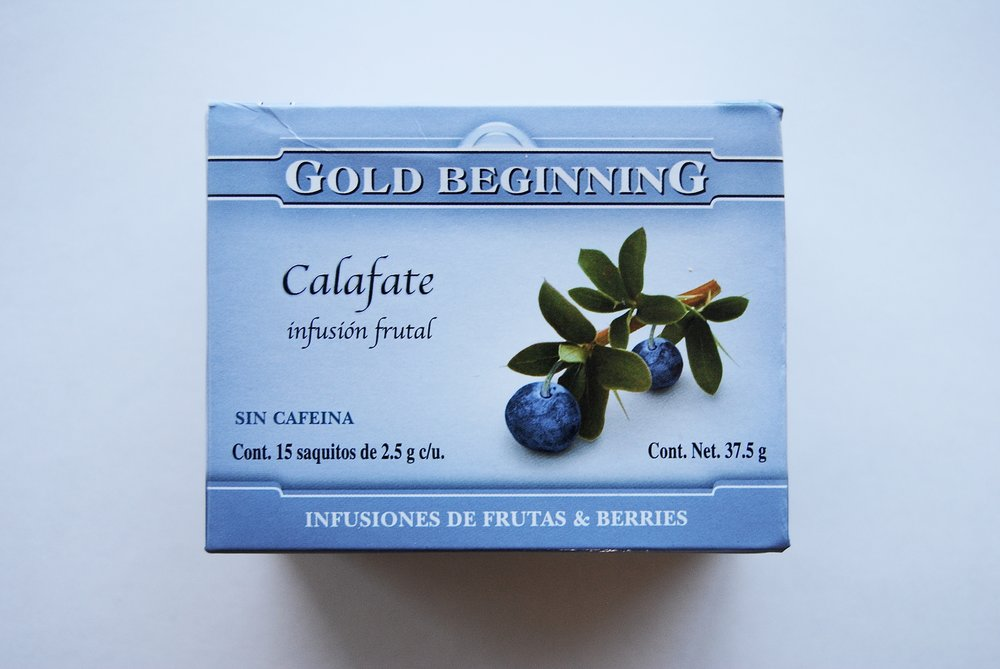 Calafate tea I purchased while in Calafate