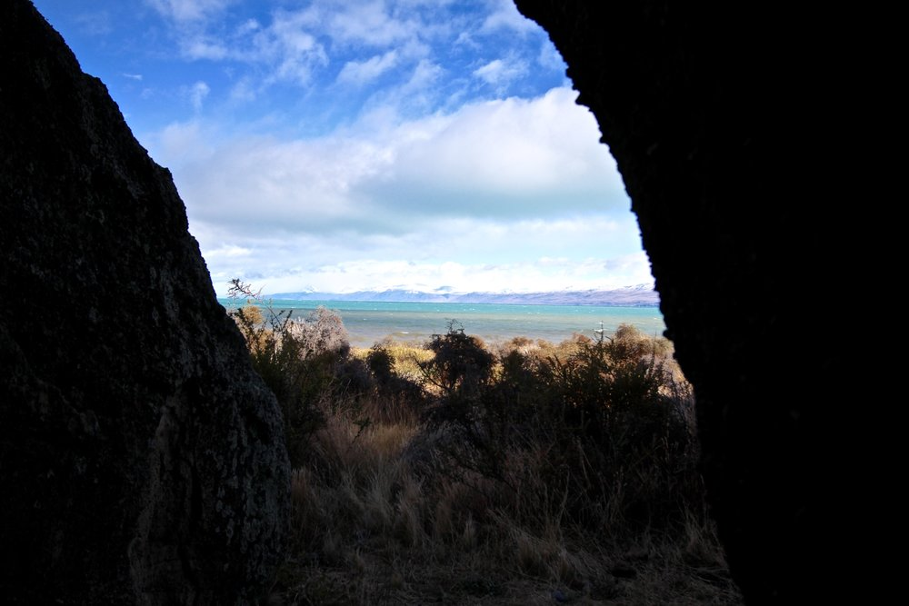 View of Lago Argentino from the caves