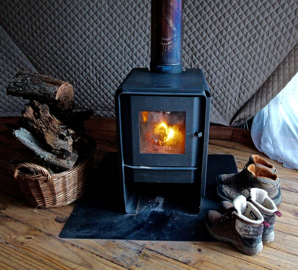 Only source of heat - woodstove