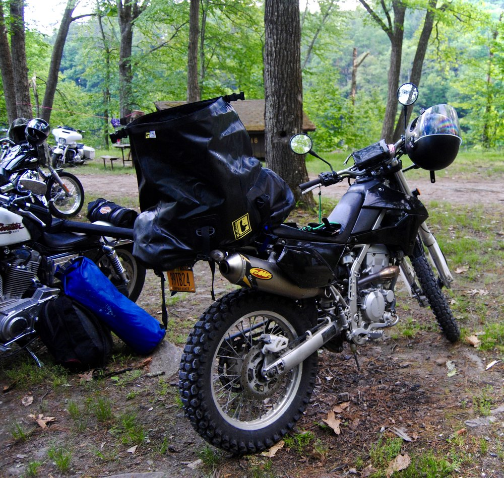 Select your pack, and pack ONLY WHAT FITS. -  Resist the urge to grab that larger pack!A huge shoutout to Wolfman Motorcycle Luggage - this pack (Expedition Dry Duffel) is the perfect weekend pack for bike trips.