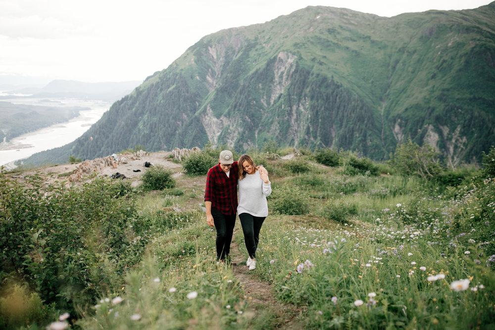 Emily + Michael, Adventure session in Juneau, Alaska