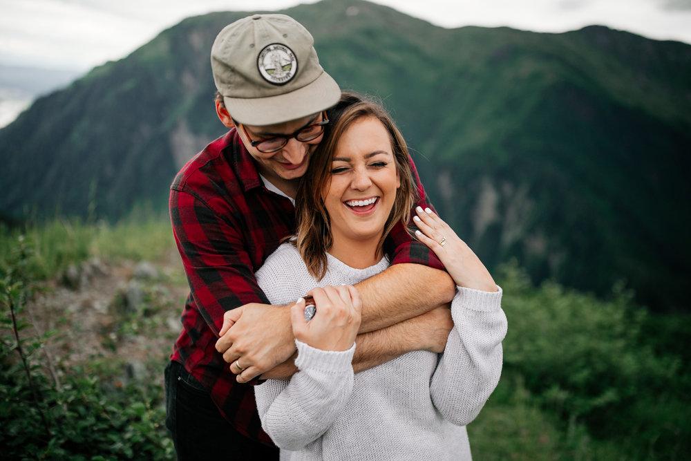 Michael + Emily,Adventure session in Juneau, Alaska