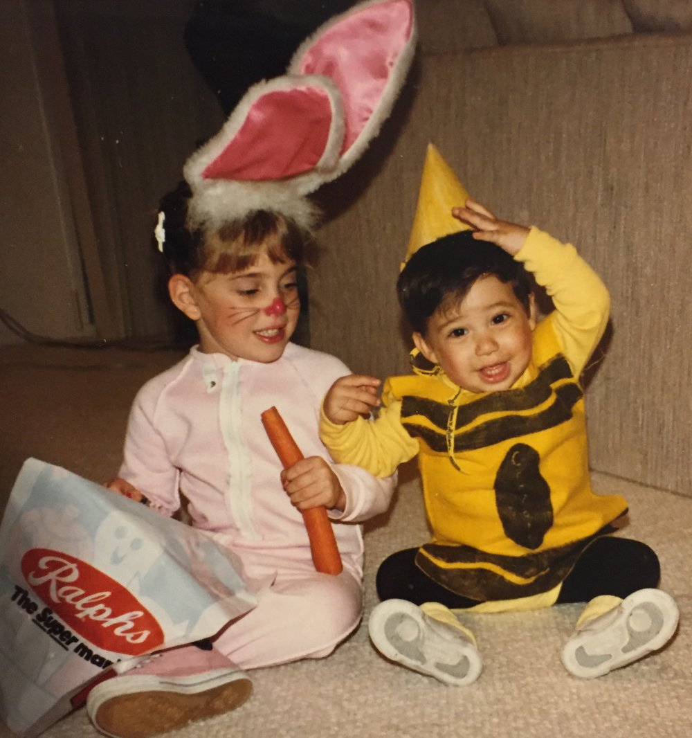 Bunny and Crayon, classic duo, a.k.a. Jenna and her brother.