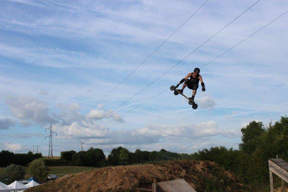Matt, mid-spin