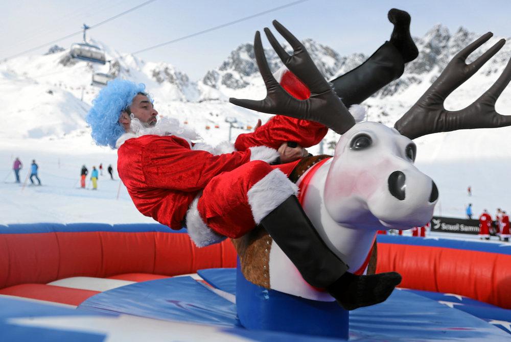 Bucking Reindeer Rodeo Photo courtesy of  Engadin Samnaun Val Mustair