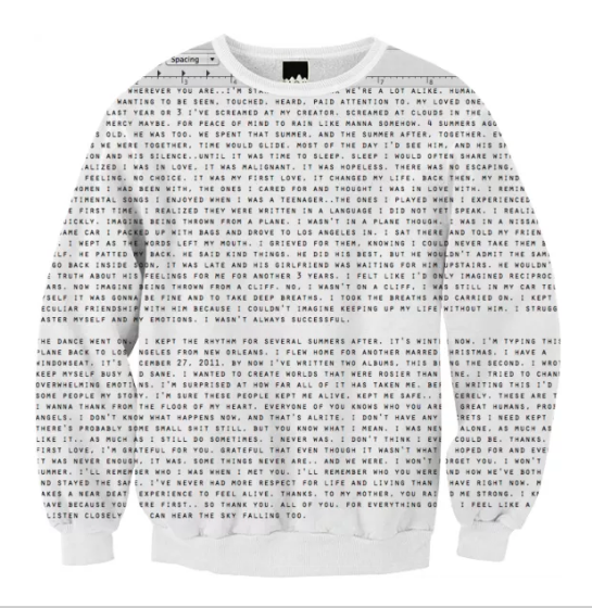 Frank Ocean's Love Letter |   Sweatshirt