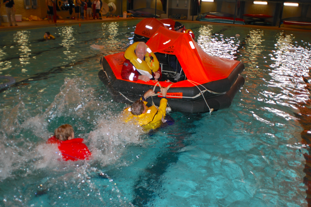 Seminar Topics Day Two — 6 hours - Days One & Two Complete Requirements for International Offshore Safety at Sea With Hands On Training.Hands-on sessions on life jackets and life rafts in the water; group activities to test problem solving abilities.