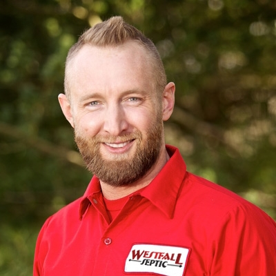 Brandon Mauck   Brandon is the fourth generation of Maucks to work in the septic service industry. He is co-owner of Westfall Septic.