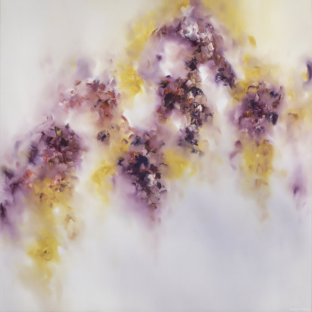 "Lilac Wine - 48"" x 48""oil on canvas$6500"