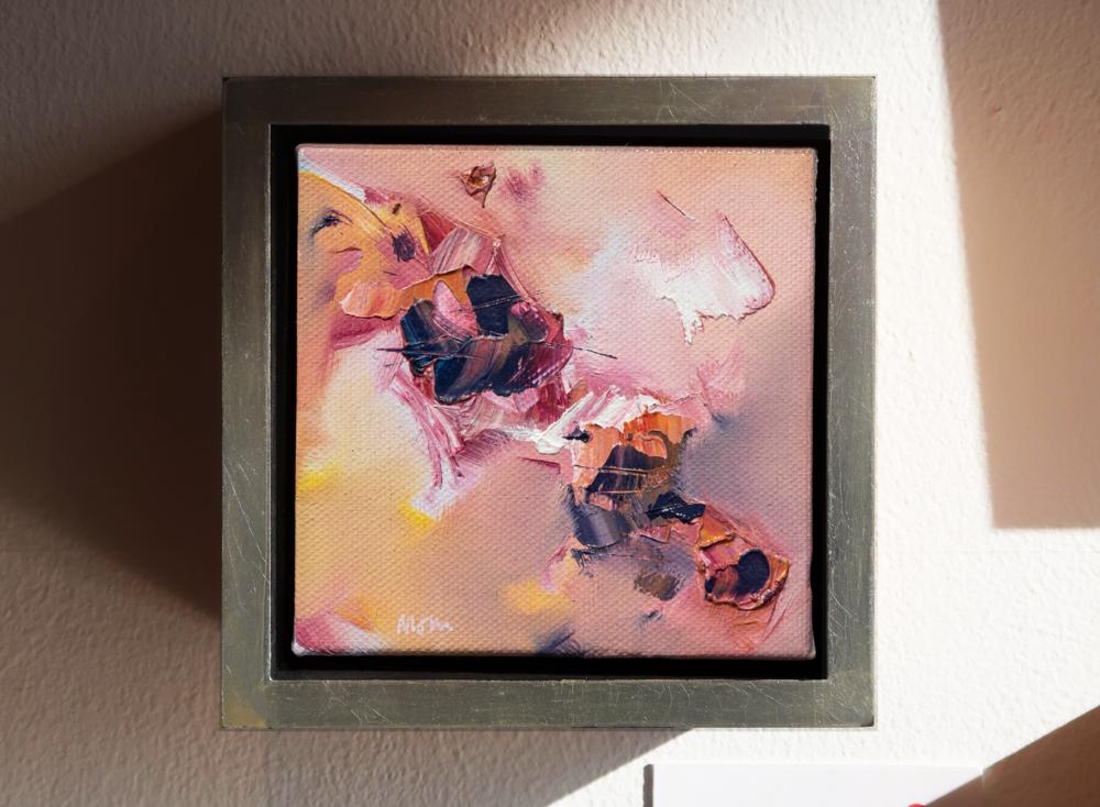 "Scintilla III  6"" x 6"", fr. oil on canvas  SOLD"