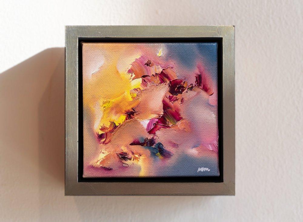 """Scintilla I  5"""" x 5"""", fr. oil on canvas  SOLD"""