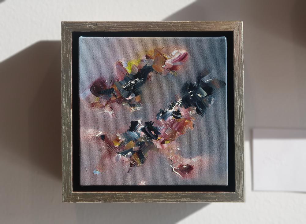 "Scintilla X 6"" x 6"", fr. oil on canvas  SOLD"