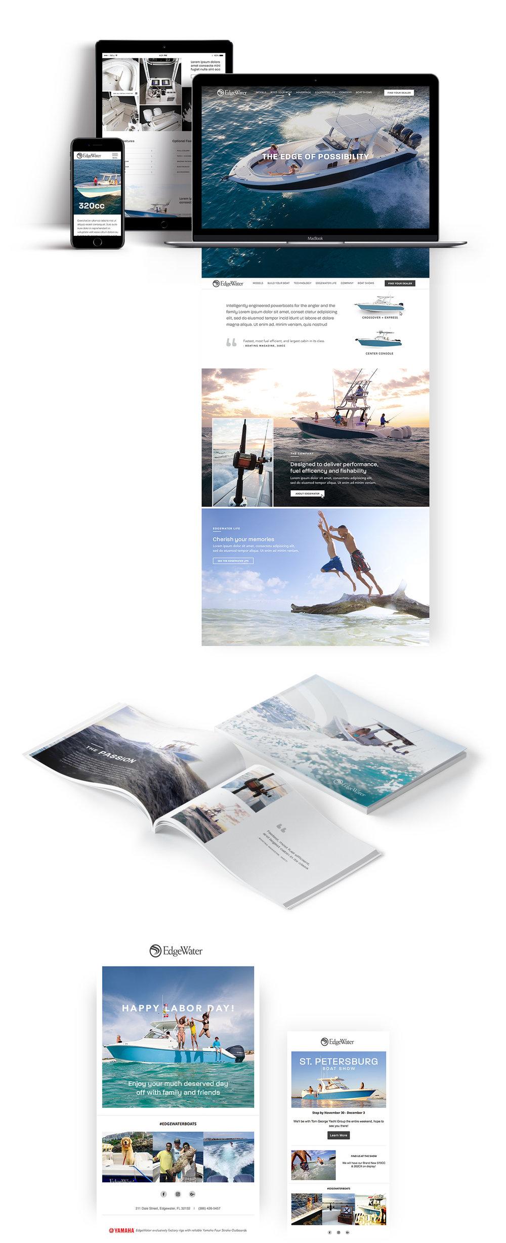 edgewater boats advertising splash creatives