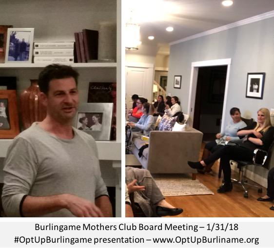 Doug Silverstein presenting at BMC Board - 1/31/18