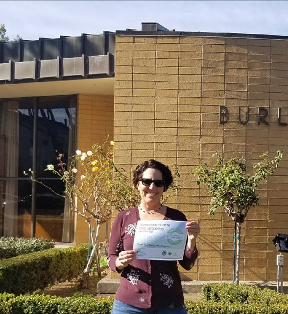 Lisa at Burlingame City Hall