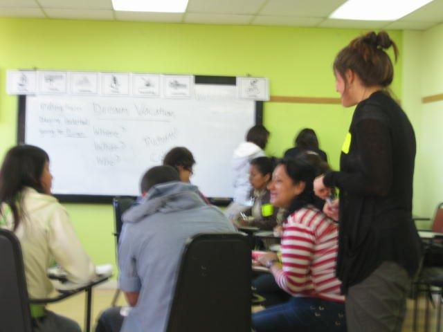 Intermediate English class in Quito, Ecuador.