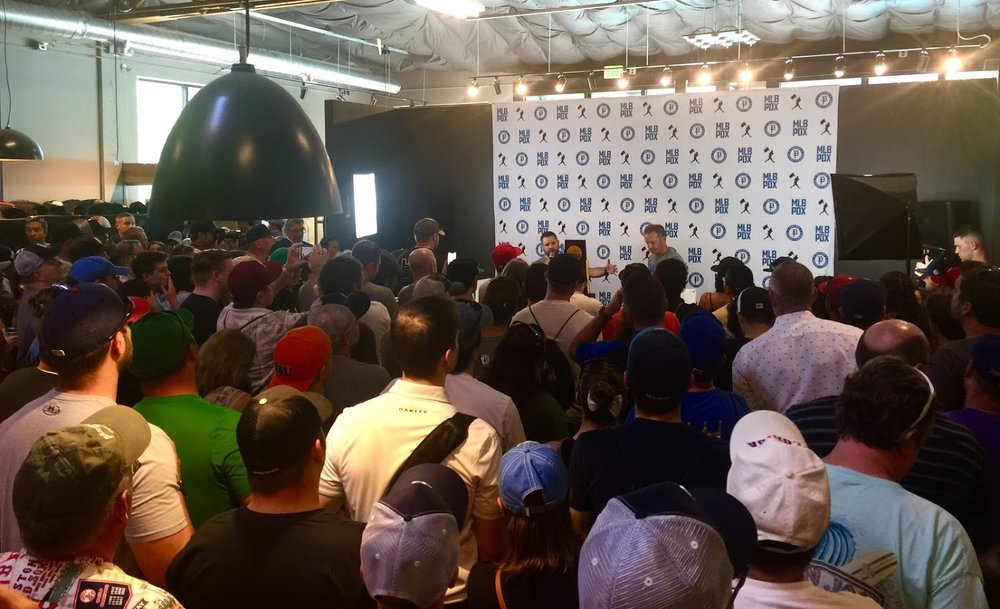 A Portland Diamond Project event held at Baseballism in downtown Portland on July 21st