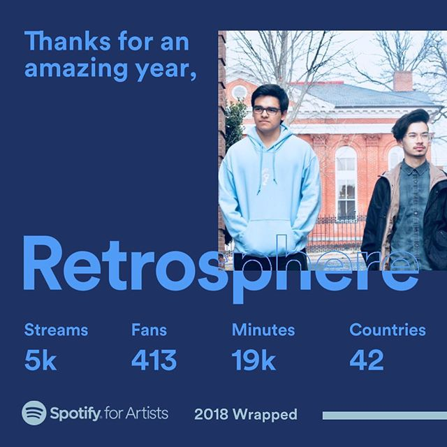 Thank you guys for making 2018 an awesome year for Retrosphere! We appreciate everyone who took the time to listen to our music! We've got new material to drop in 2019, so keep a lookout for that 🤘🏼#retrosphere #prog #music #rva #djent #inmotion #band