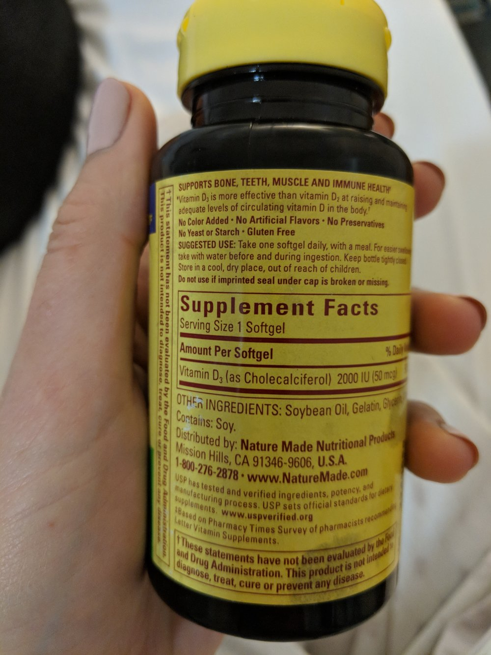 The offending Soy-based Vitamins!