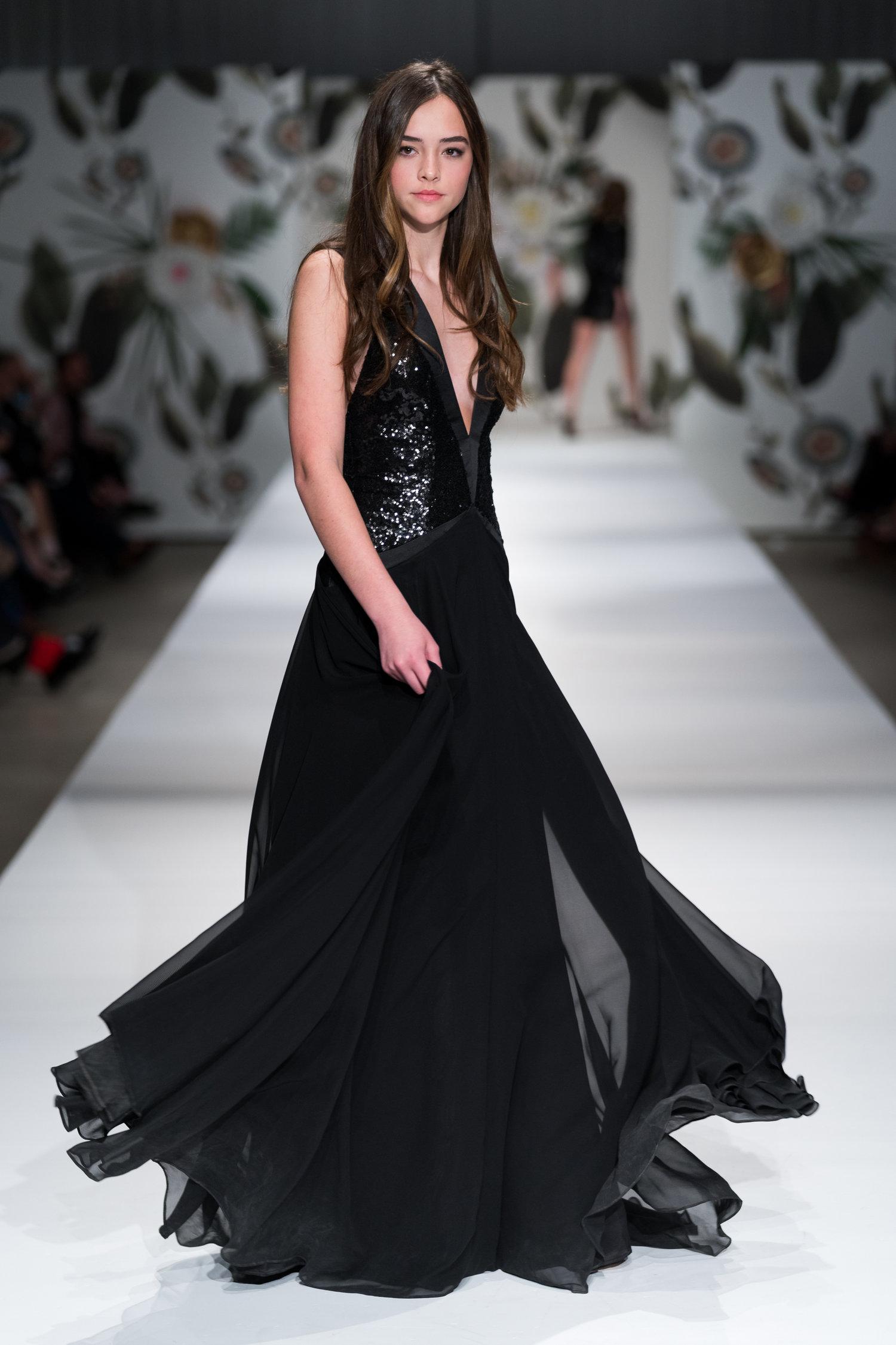Sequin Tuxedo Gown — Lindenmayer Couture