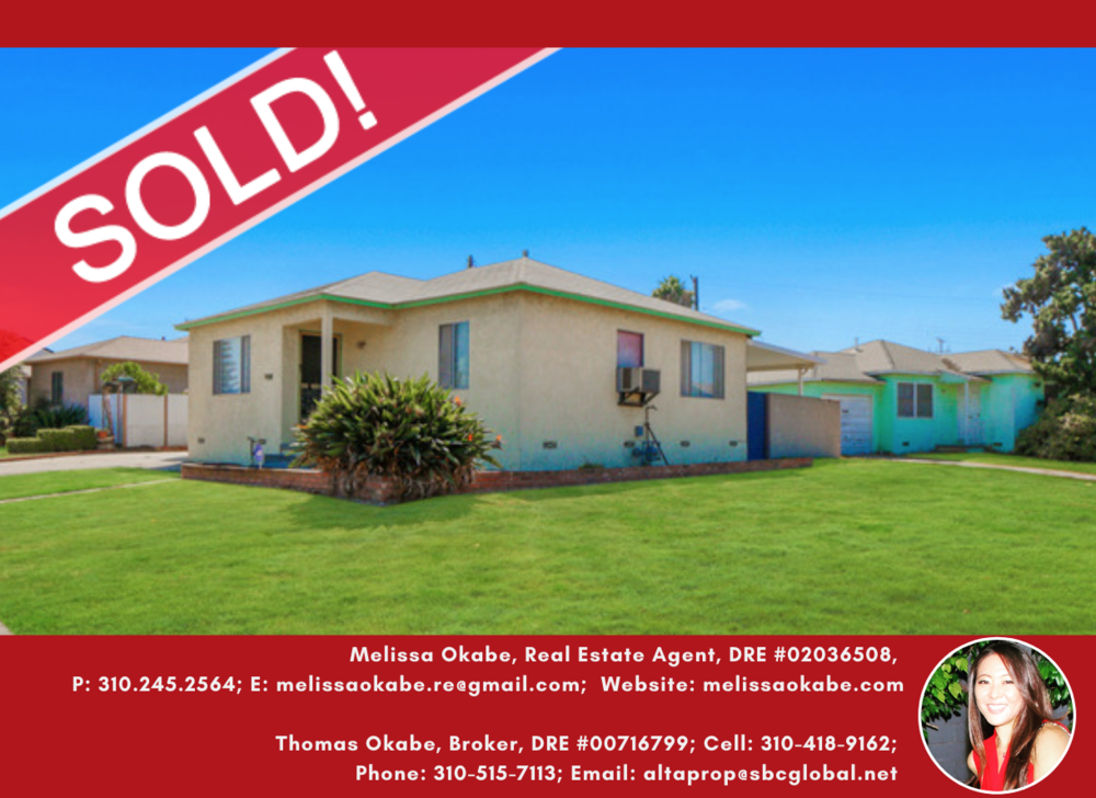 712 W. 149TH ST GARDENA CA 90504- SOLD BY MELISSA OKABE