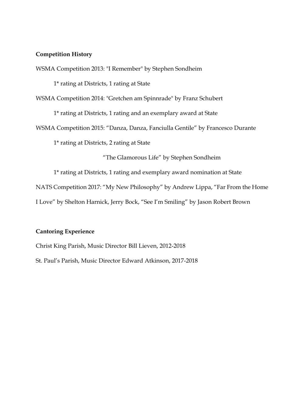 resume Resume Rating resume emma nelson vocalist music 3 jpg
