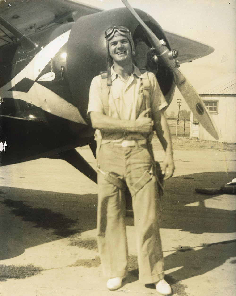 ABOVE: My grandfather, Norbert, who worked as a flight instructor teaching World War II pilots how to fly.
