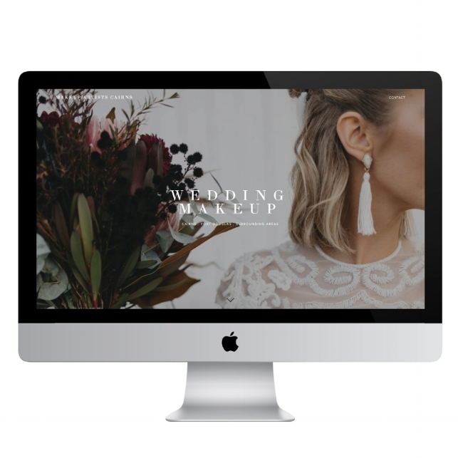 Imo Creative - squarespace homepage design for Makeup Artists Cairns