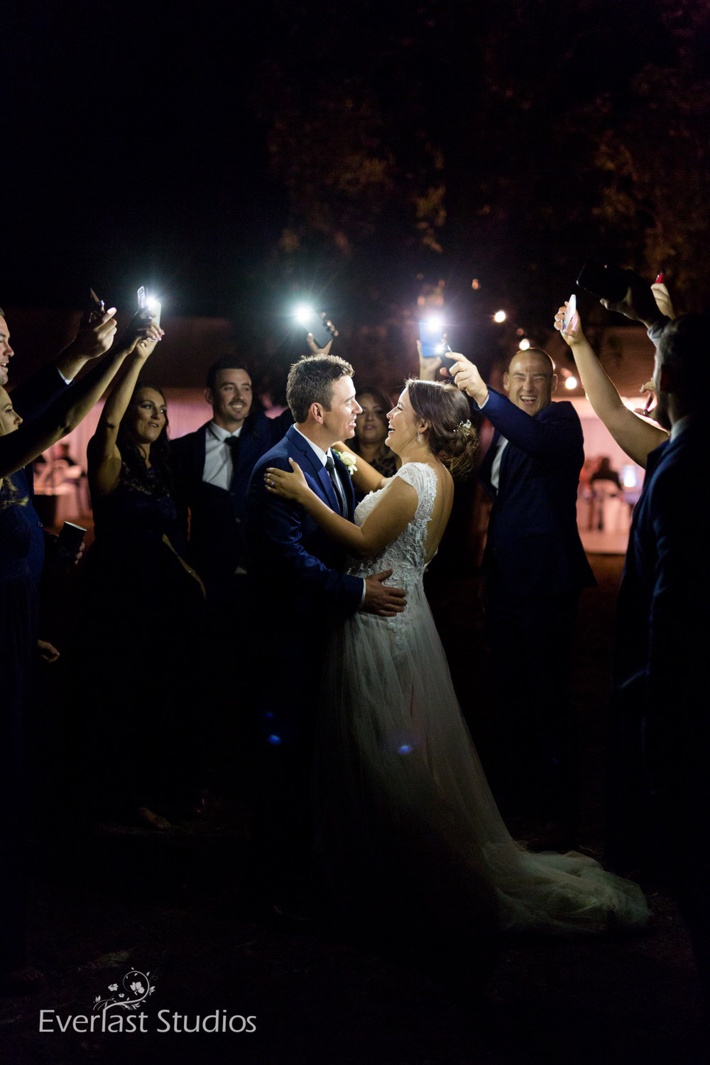 night wedding photography