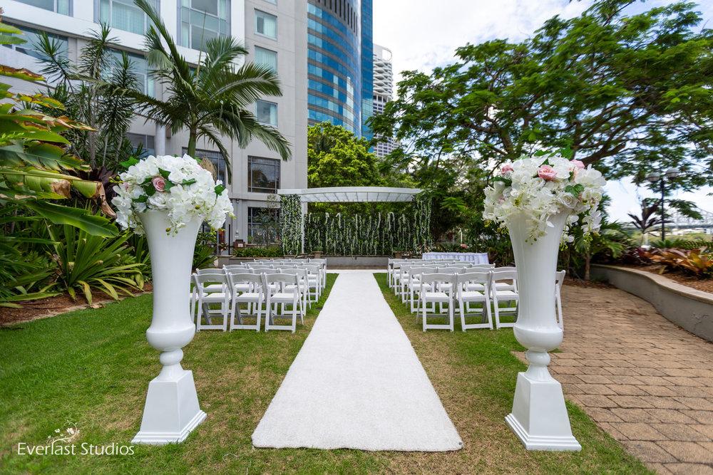 Wedding Ceremony styled by Beautiful Weddings, Stamford Plaza Brisbane City