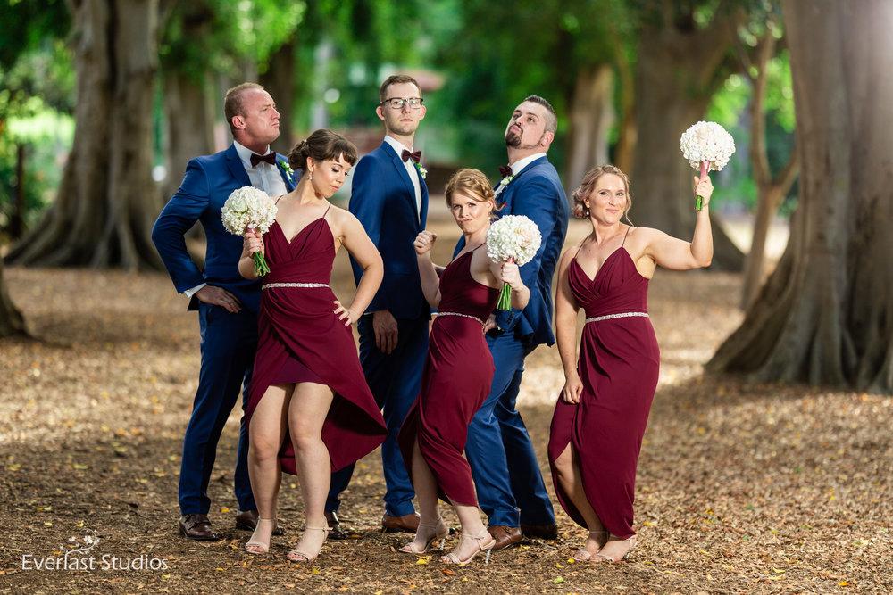 Best Bridal Party, Brisbane Botanical Gardens
