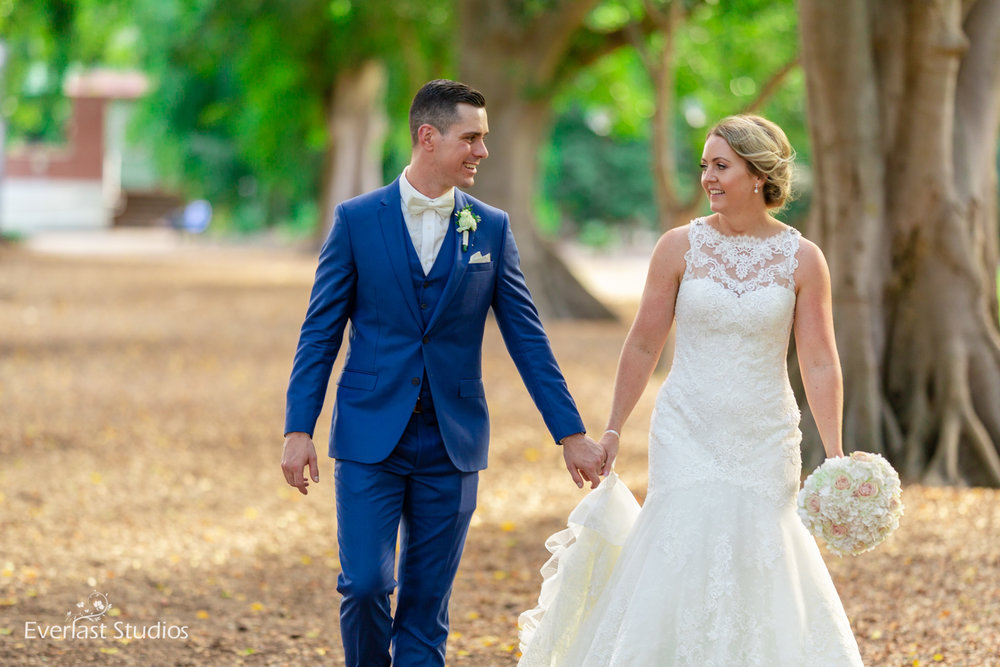 Bride and Groom Brisbane City Wedding