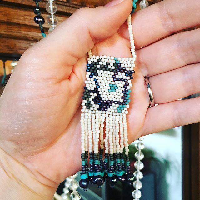 It runs in the family...a precious gift by my beauty-full, talented cuz @rattlesnakefurjewels #creative #bead #sorcerer