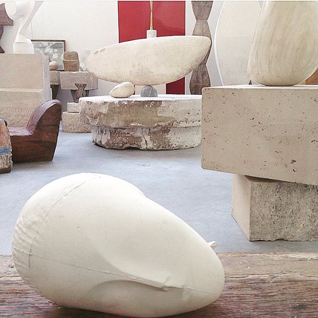 A little Thursday inspiration from Brancusi's studio #love #brancusi #sculpture #perfection