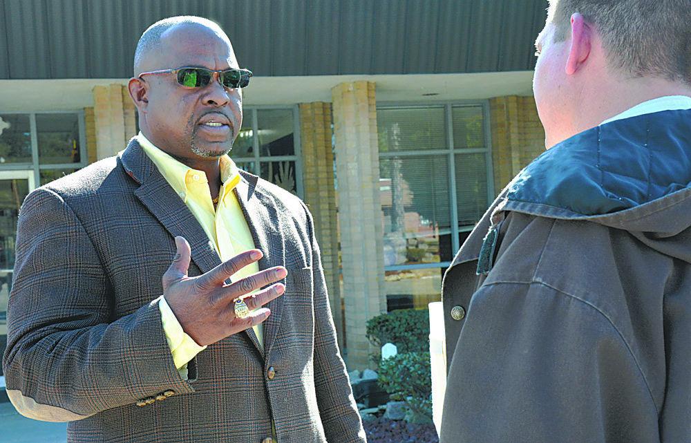 in photo, mentacidal straw boss Aaron Joyner, aka the warden of Lee Correctional Institution